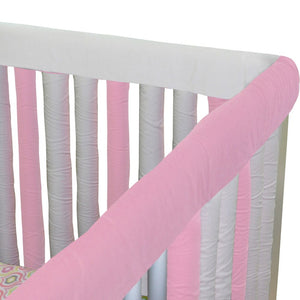 Wonder Bumpers Teething Guards in Organic Cotton - Pink & White