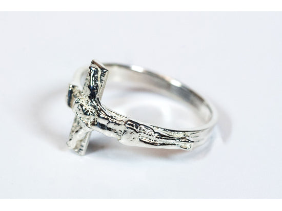 Women's Sterling Silver Crucifix Ring