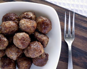 Rosina - 1.5Oz Grass Fed Gluten Free Meatballs Fully Cooked 10Lb Pack Meats