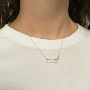 14k pin necklace