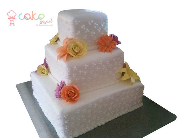 CSDWD257 - Flowers and White Cake