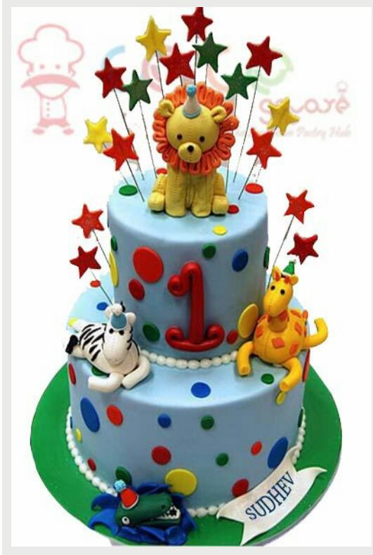 Animals party cake 5kgbcb (118)