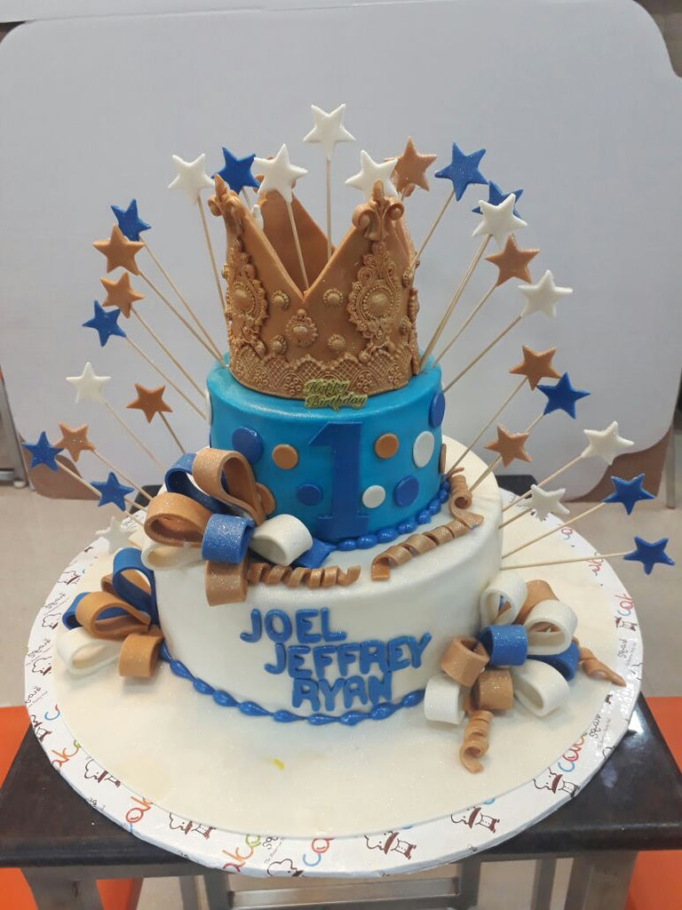 Crown and stars cake 5kgbcb (28)