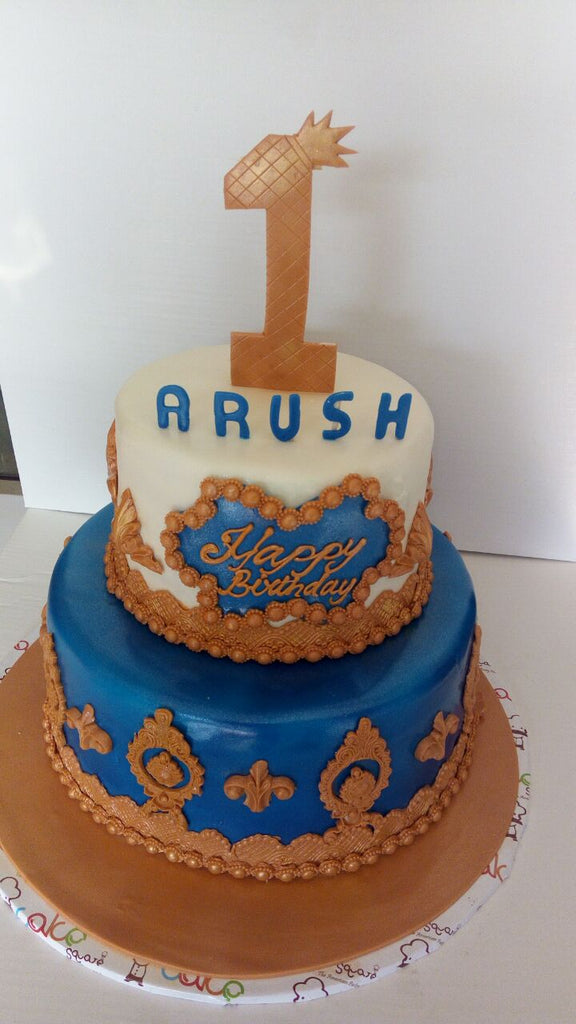 Blue and brown cake 5kgbcb (34)