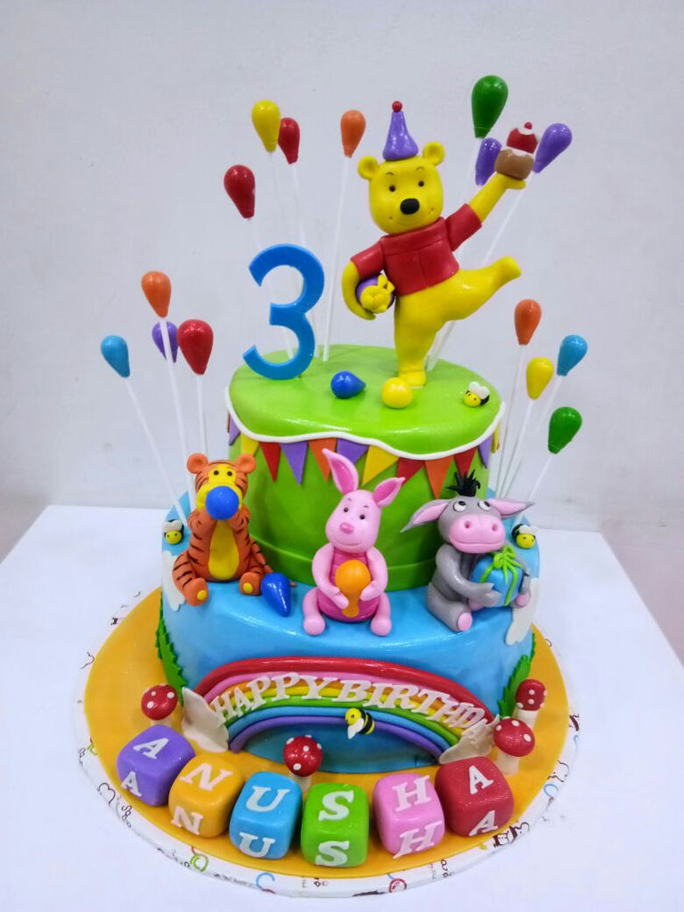 Pooh and Friends cake 5kgbcb (55)