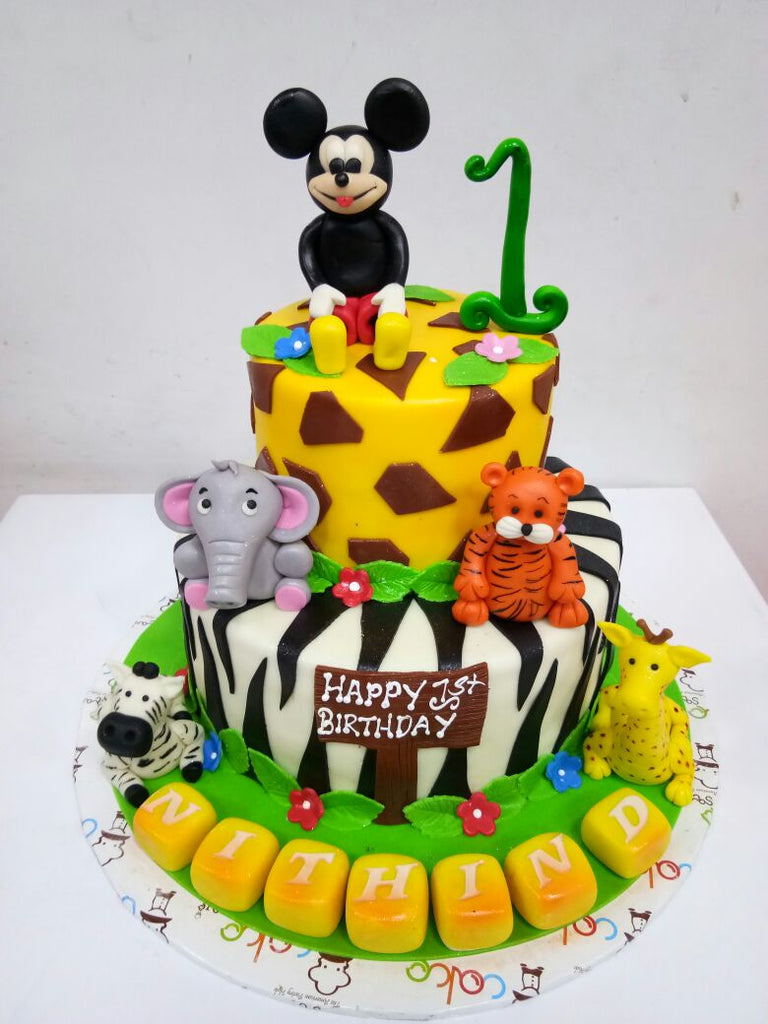 Micky mouse and animals cake 5kgbcb (67)