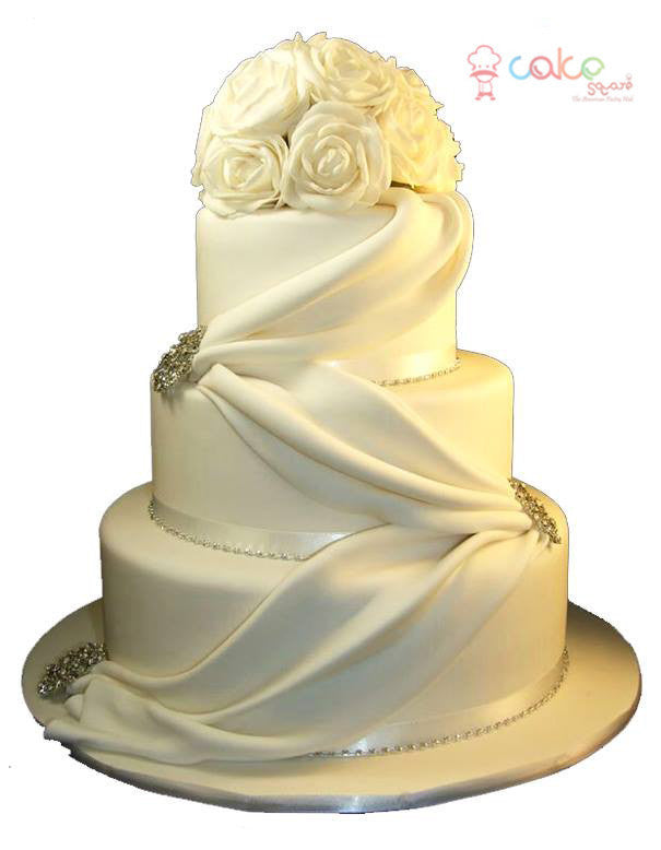 CSDWD289 - Lovely White Wedding cakes