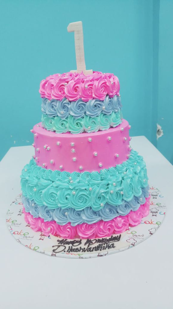 Teal and Rose cake 9kgbcg (33)