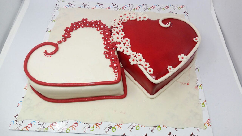 Two hearts cake 9kgbcg (35)