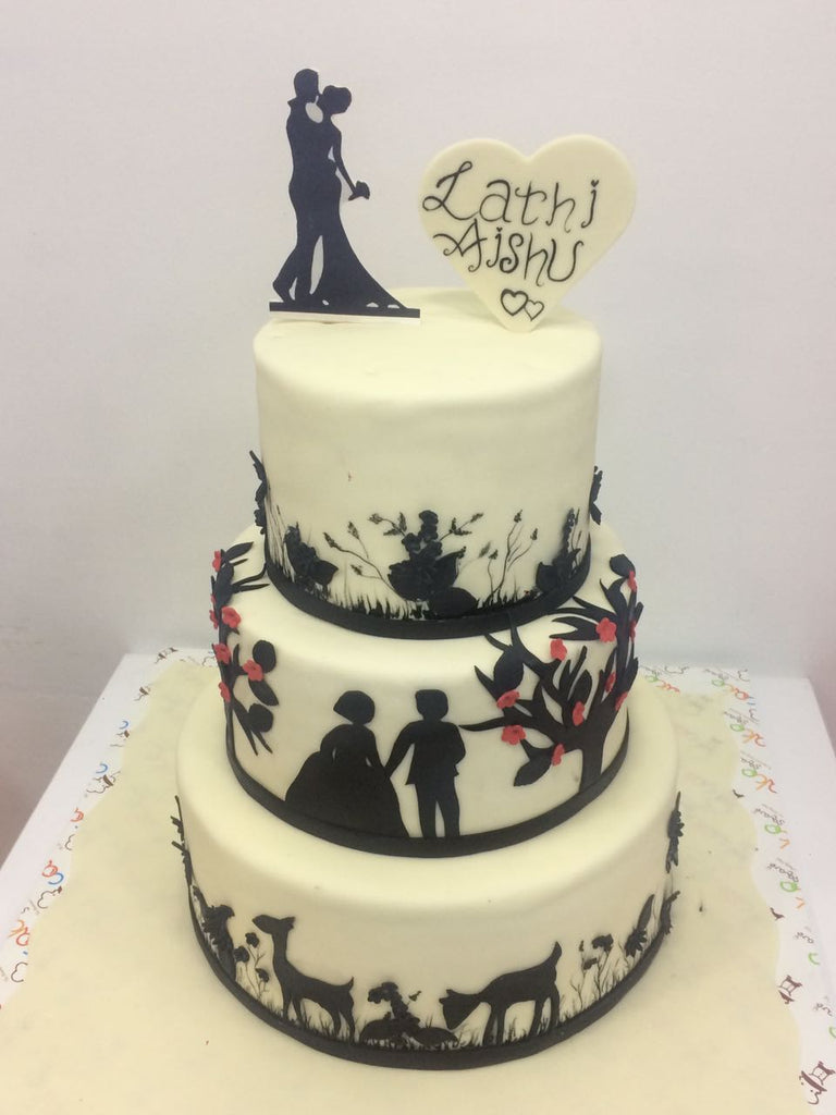 Black and white love cake 9kgwc118