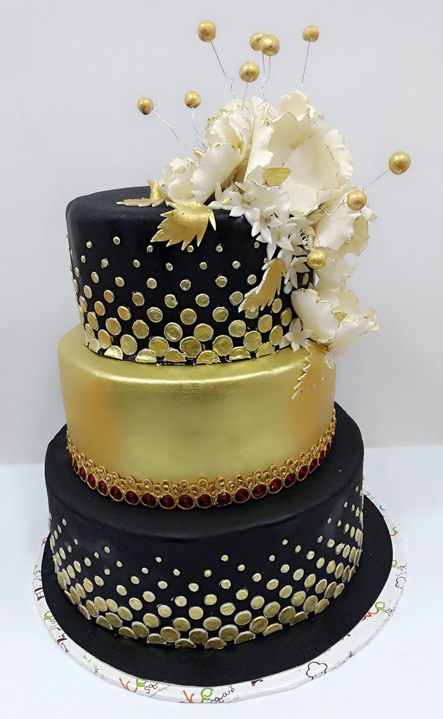 Black and gold design 9kgwc129