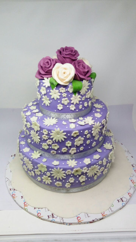 Violet flowers cake 9kgwc131