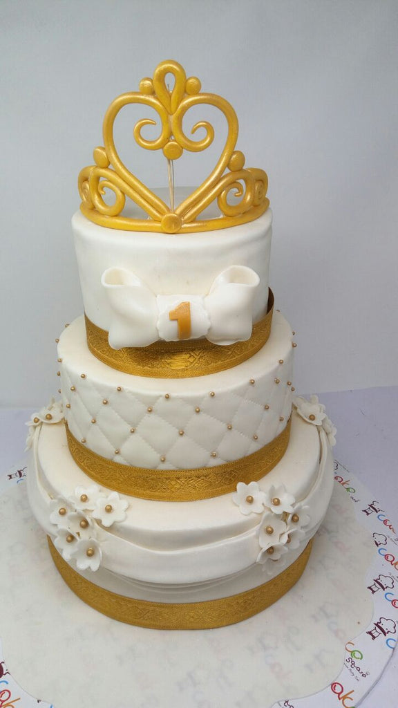 White and gold cake 9kgwc133