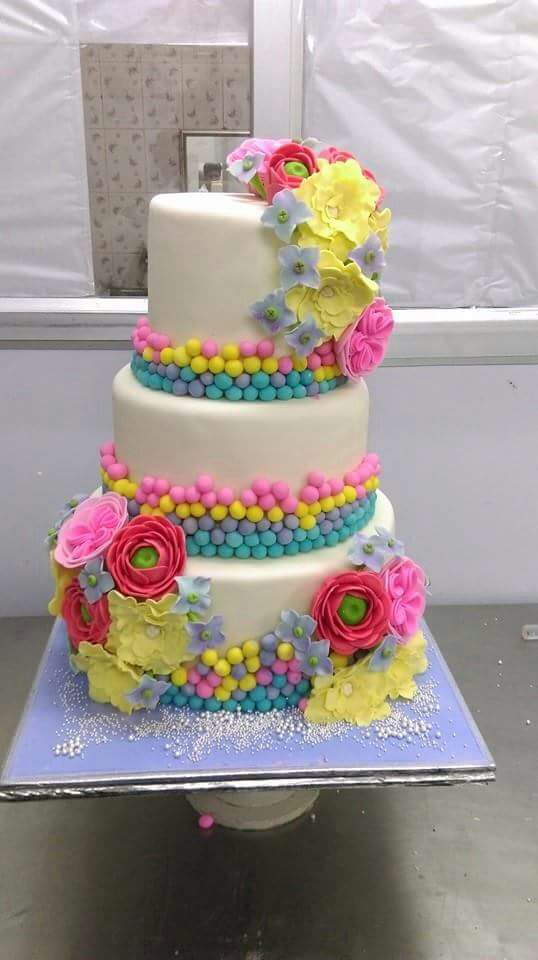 Colorful flowers cake 9kgwc137