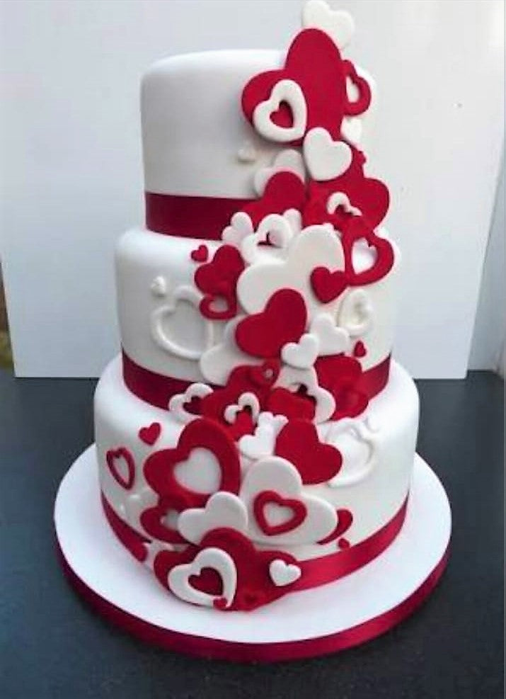 Red & White Heart 9kgwc162
