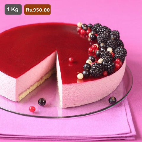 AC015-Black Currant Mousse Cake