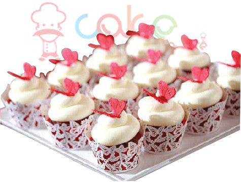 CP099-Butterfly Wedding Cupcakes