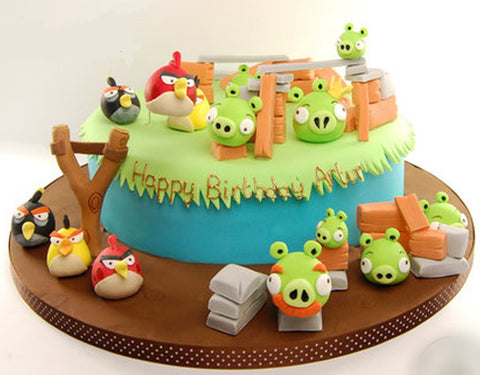 PH025 - Angry Bird Photo Cake