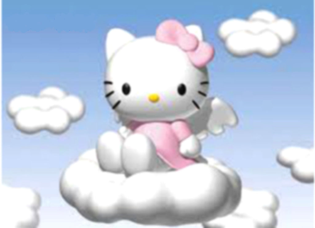 PH045 - Hello Kitty on the Clouds Photo Cake