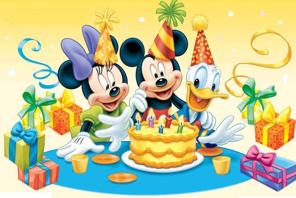PH048 - Happy Mickey Family Photo Cake