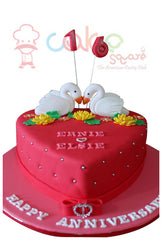 CSD3KG015 - Red Heart Cake