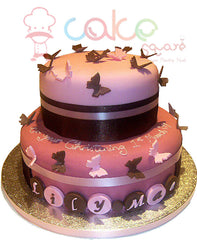 CSD5KG002 -  Pink & Chocolate Butterfly