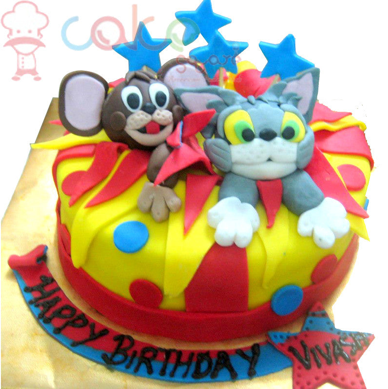 Tom And Jerry Chase Cake Square Chennai