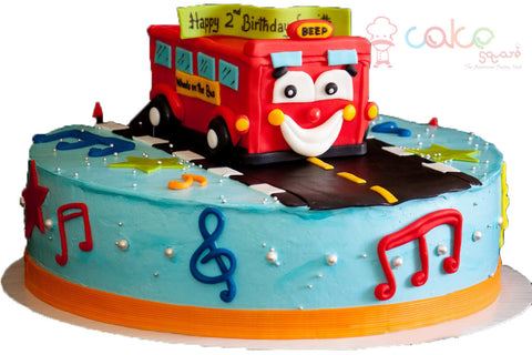 Wheels On The Bus Cake Square Chennai