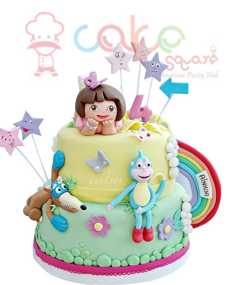 CSDBD182 - Amazing Dora the Explorer Cake