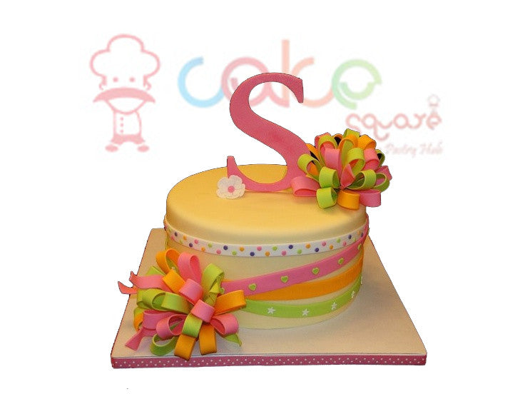 Beautiful Girls Birthday Cake Square Chennai