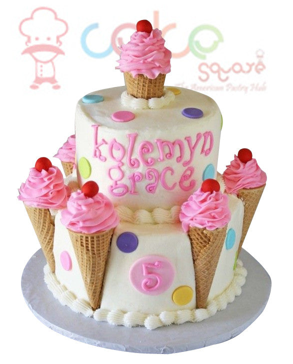 Ice Cream Cones Cake Square Chennai