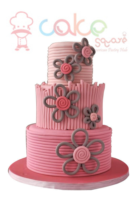 Little Girls Birthday Cake Square Chennai