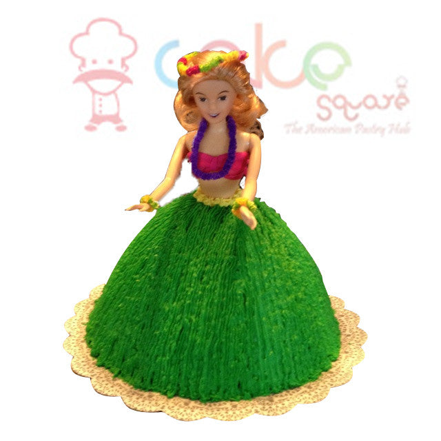 CSDBD214 - Hula Girl Birthday Cake