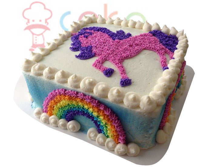Unicorn Rainbow Girls Birthday Cake Cake Square Chennai