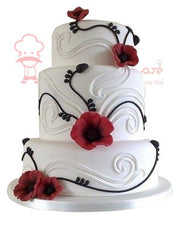 chocolate and milky wedding cake