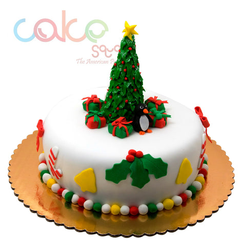 DCC102  Christmas Tree Theme - Designer Christmas Cakes