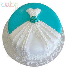 ODC103 Angel Dress Theme -1Kg Designer Cakes