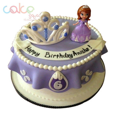 ODC105 Barbie Cartoon Fondant Theme 1 Kg Designer Cakes