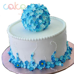 ODC107 Beautiful Blue Flowers - 1Kg Designer Cakes
