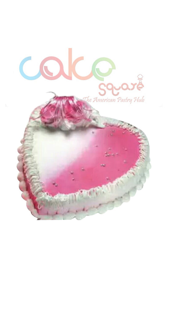 ODC121 Cute Pink Heart - 1Kg Designer Cakes