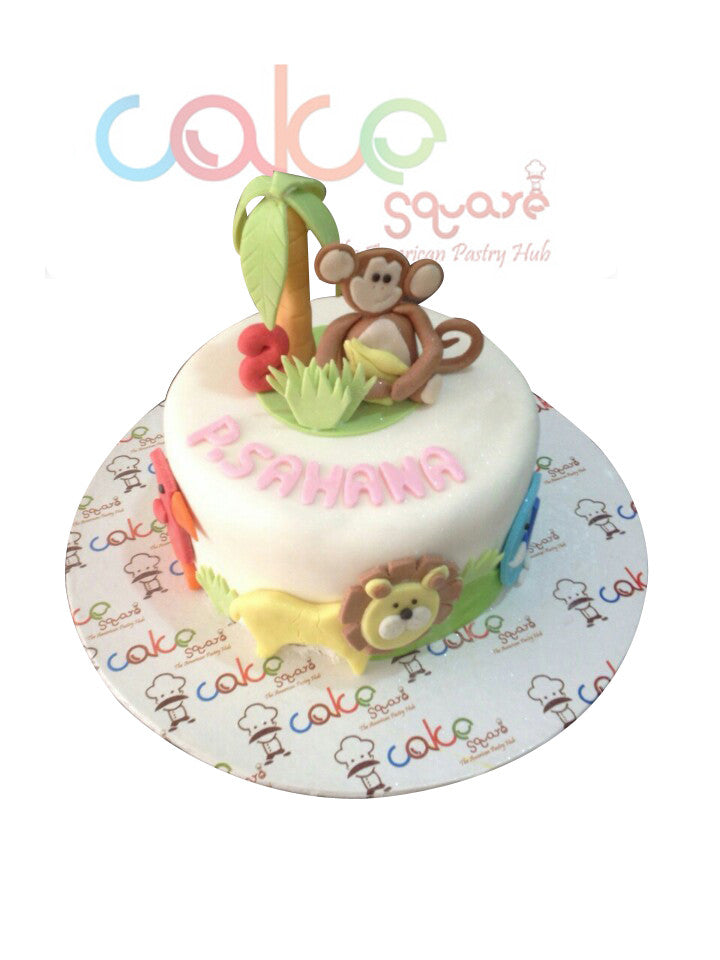 ODC142 Kid's Animal Themed Kid's  - 1Kg Designer Cakes