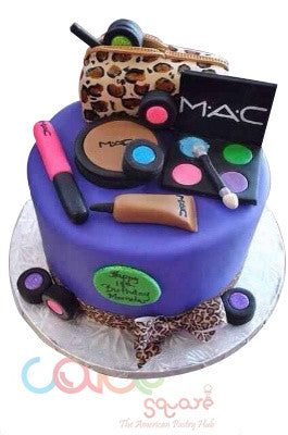 Odc149 Make Up Kit Fondant Cake 1kg Designer Cakes Cake Square