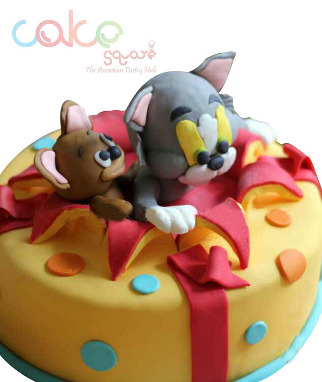 Odc185 Tom And Jerry Cartoon Fondant 1kg Designer Cakes Cake