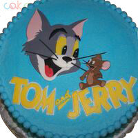 ODC184 Tom And Jerry Cartoon 1Kg Designer Cakes Cake Square Chennai