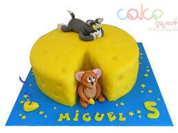 ODC188 Tom And Jerry Cheese -1Kg Designer Cakes