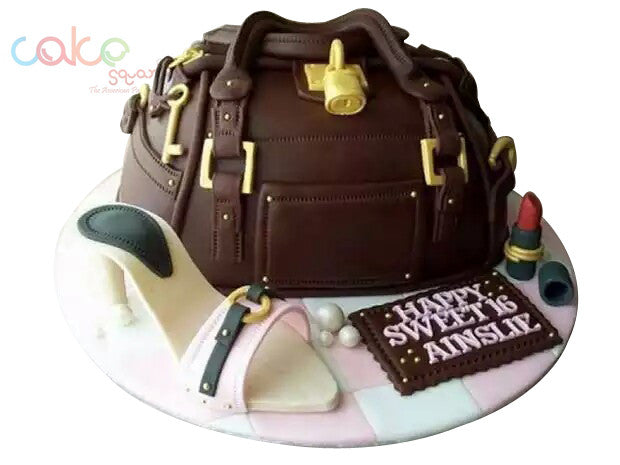 ODC154 Women Bag Theme Cake 16th Birthday For Girls