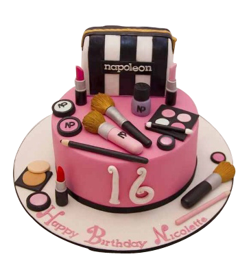 Odc151 Make Up Kit Theme Cake 1 Kg Designer Cakes Cake Square Chennai