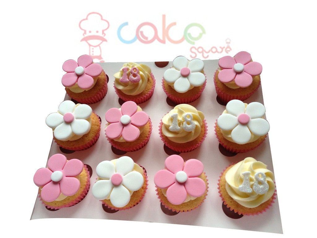 CP020-Flower Treat Cupcakes