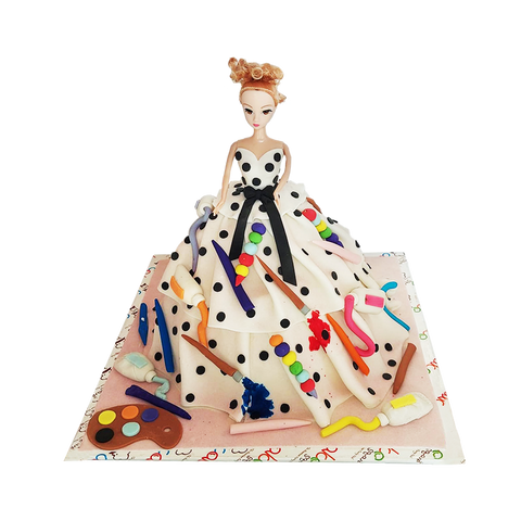 MC005 - Painter Doll Cake