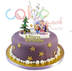DCC119 Purple Party - Designer Christmas Cakes